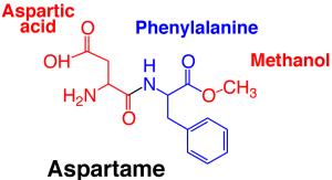 Struktur kimia aspartam